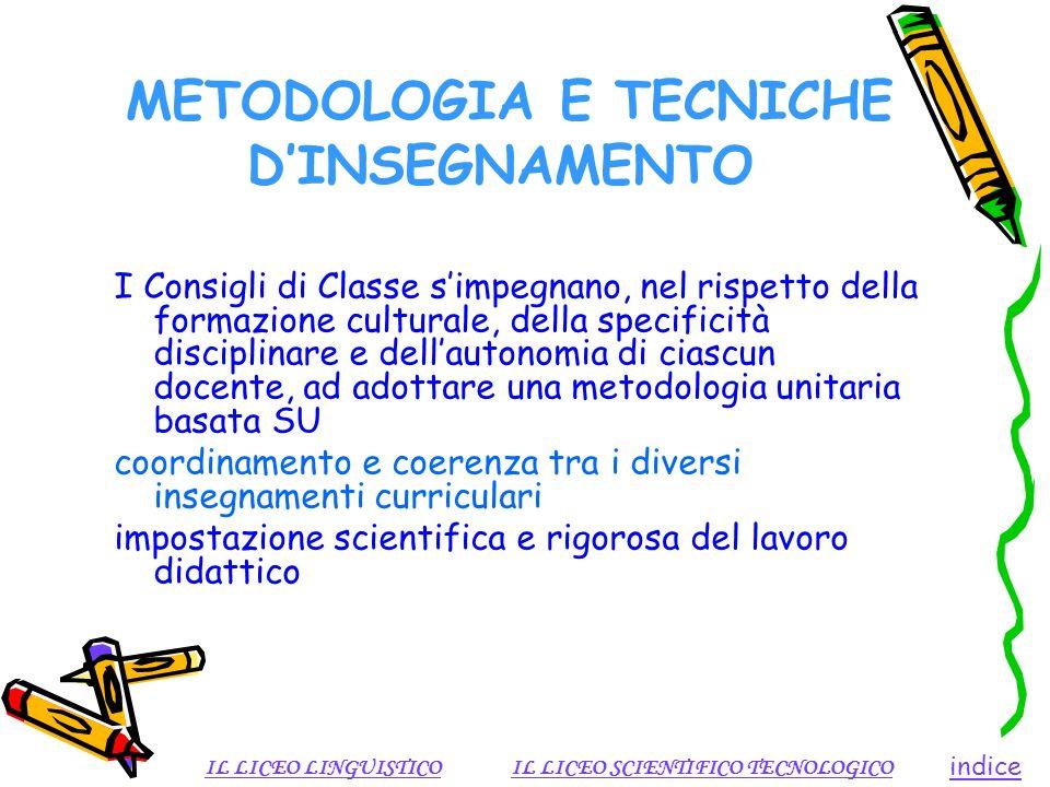 METODOLOGIA E TECNICHE D'INSEGNAMENTO