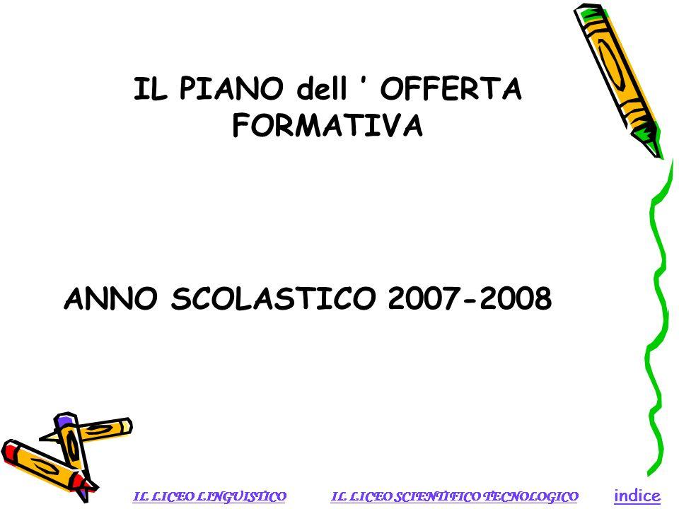 IL PIANO dell ' OFFERTA FORMATIVA