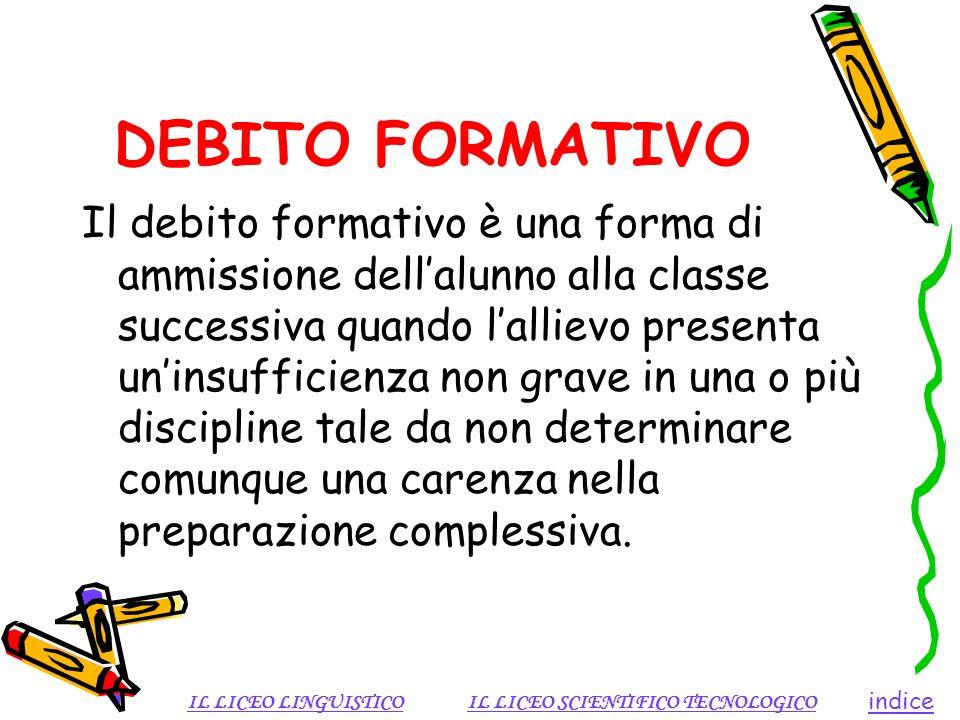 DEBITO FORMATIVO