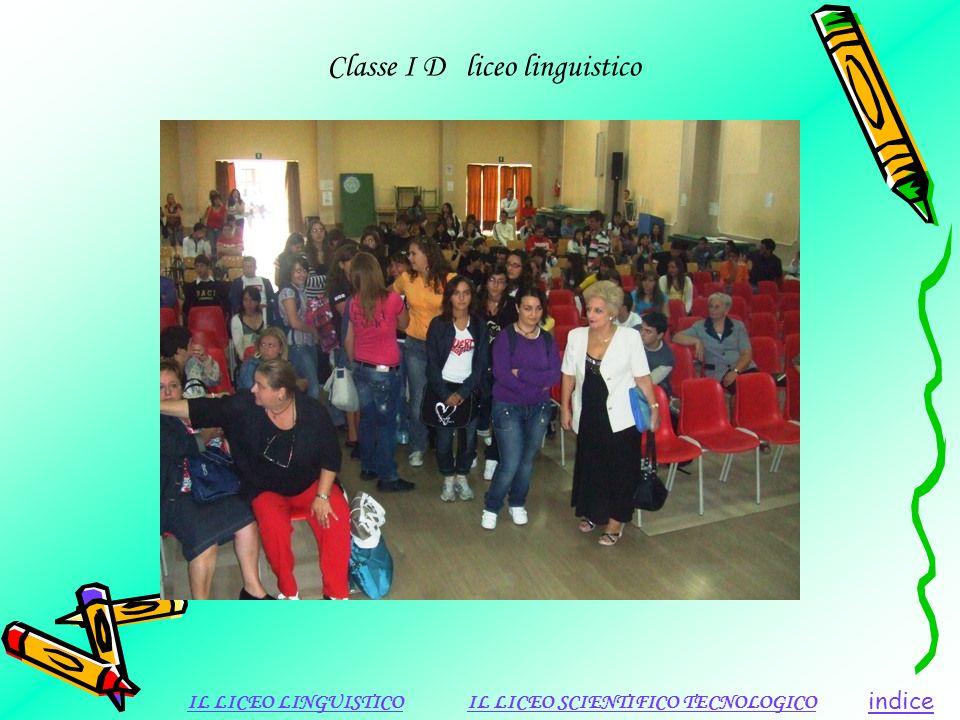 Classe I D liceo linguistico