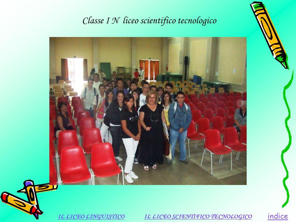 Classe I N liceo scientifico tecnologico