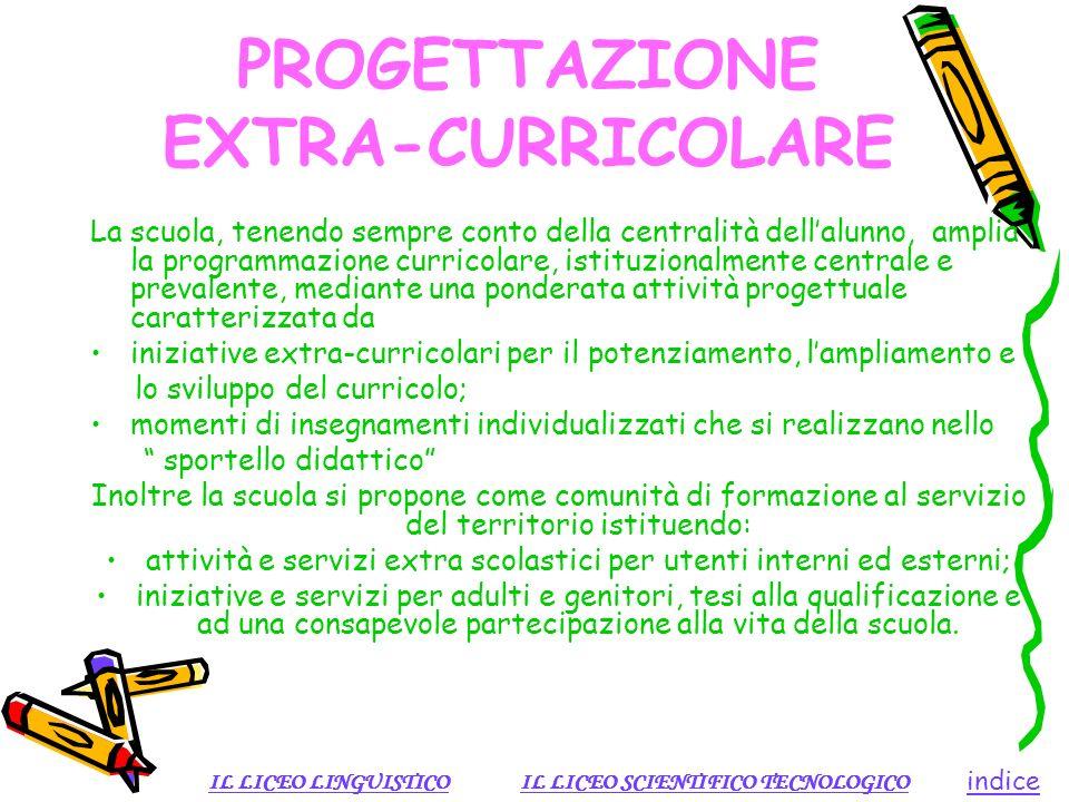 PROGETTAZIONE EXTRA-CURRICOLARE