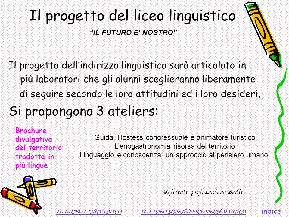 Il progetto del liceo linguistico
