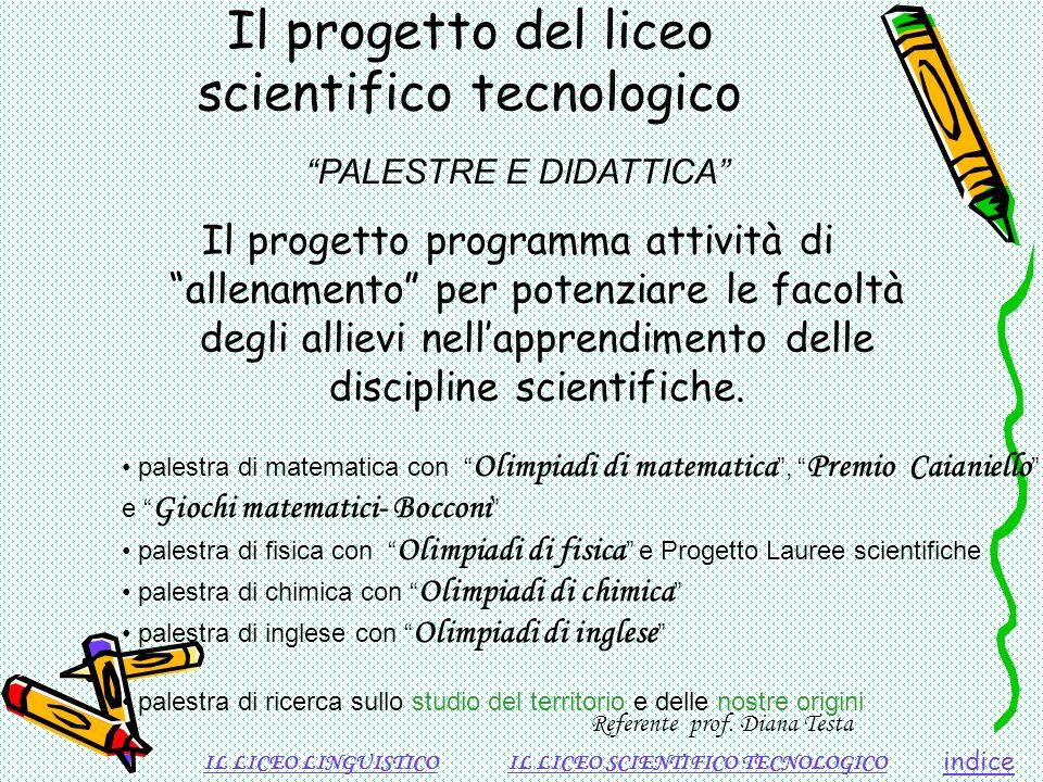 Il progetto del liceo scientifico tecnologico