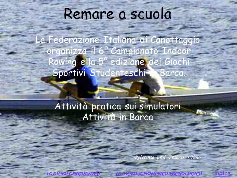 Remare a scuola La Federazione Italiana di Canottaggio