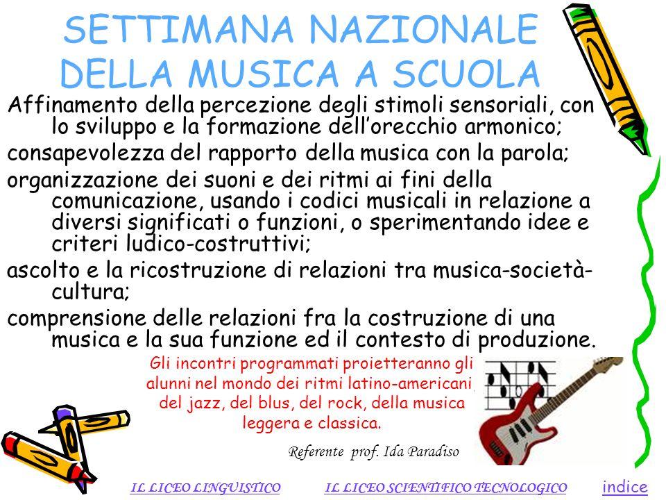 SETTIMANA NAZIONALE DELLA MUSICA A SCUOLA