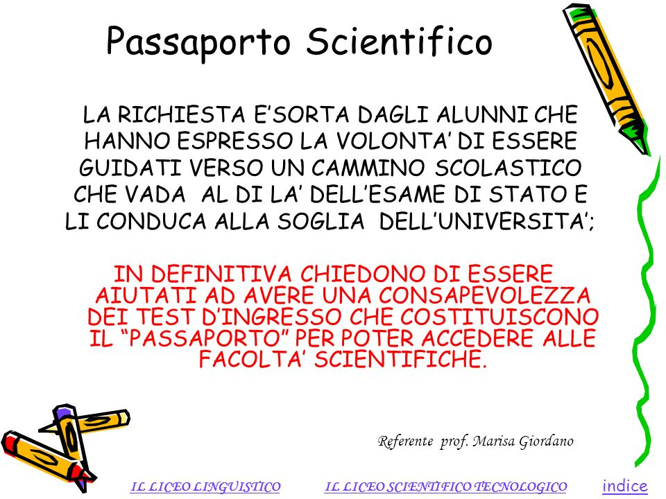 Passaporto Scientifico