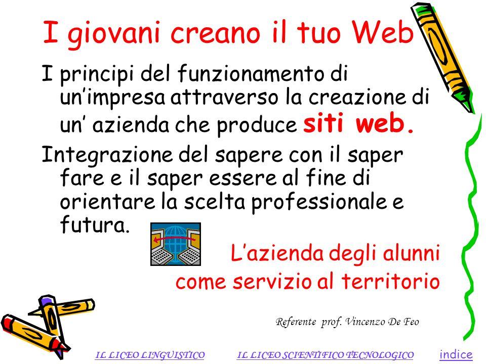 I giovani creano il tuo Web