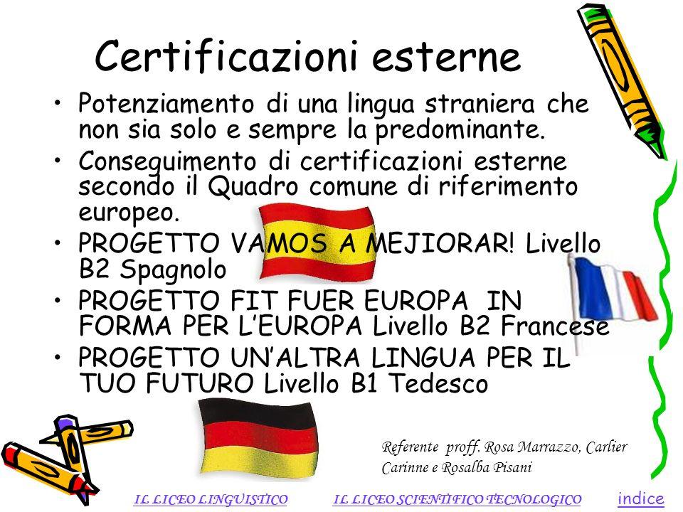 Certificazioni esterne