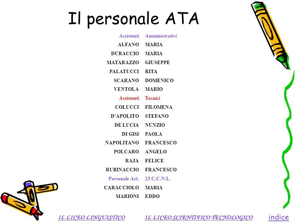 Il personale ATA indice IL LICEO LINGUISTICO