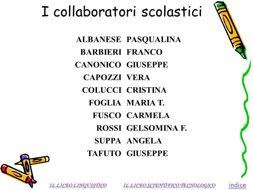I collaboratori scolastici