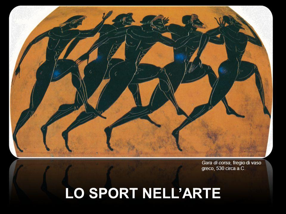 Gara di corsa, fregio di vaso greco, 530 circa a.C.