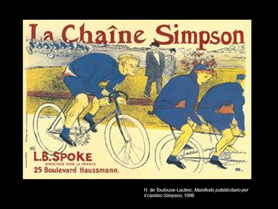 H. de Toulouse-Lautrec, Manifesto pubblicitario per il cambio Simpson, 1896