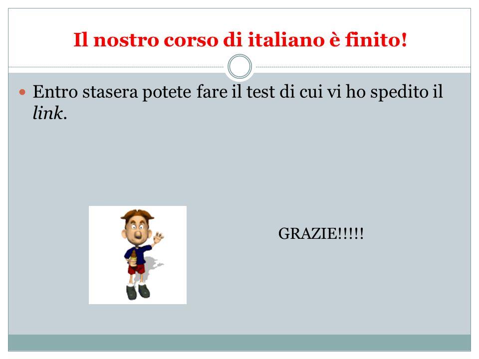 Il nostro corso di italiano è finito!