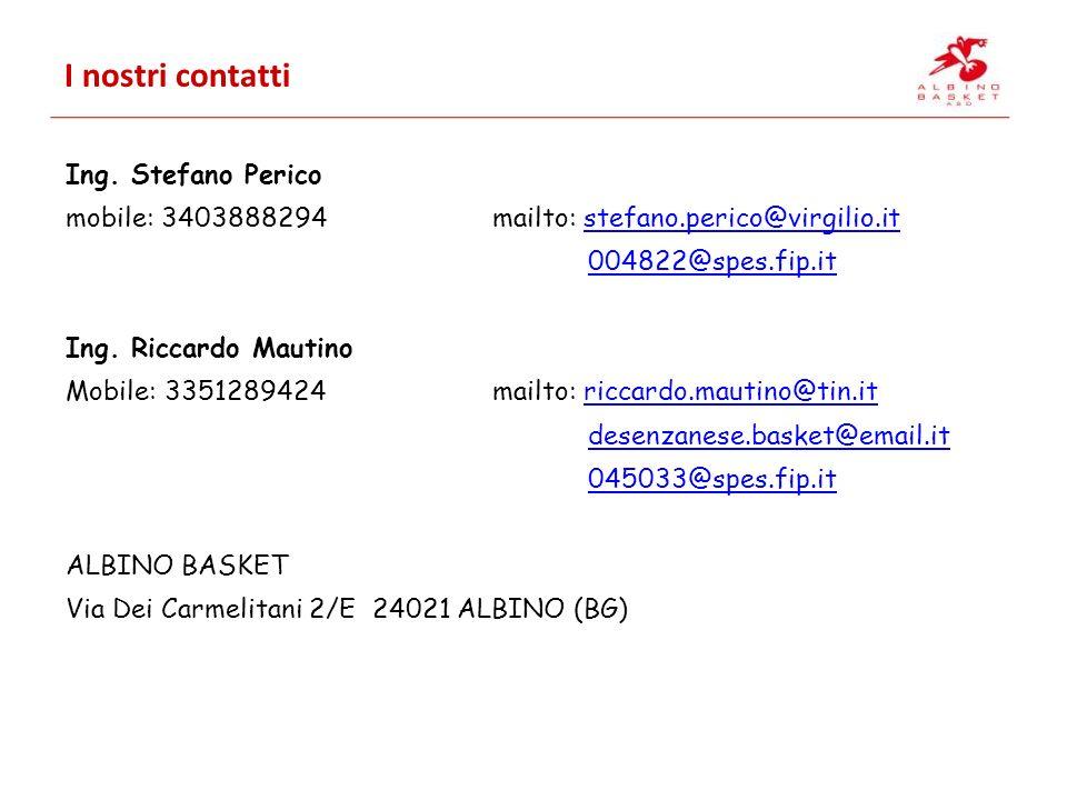 I nostri contatti Ing. Stefano Perico