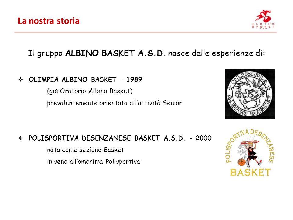 Il gruppo ALBINO BASKET A.S.D. nasce dalle esperienze di: