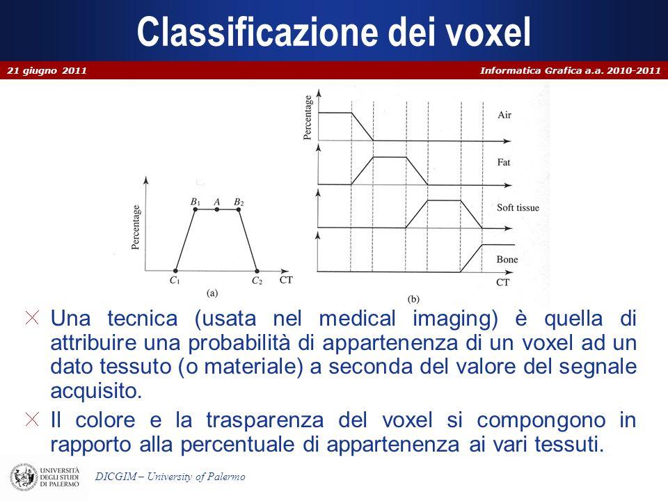 Classificazione dei voxel