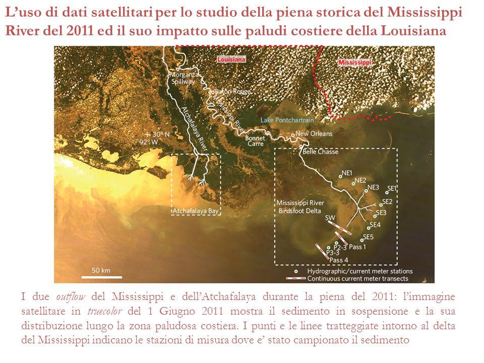 L'uso di dati satellitari per lo studio della piena storica del Mississippi River del 2011 ed il suo impatto sulle paludi costiere della Louisiana