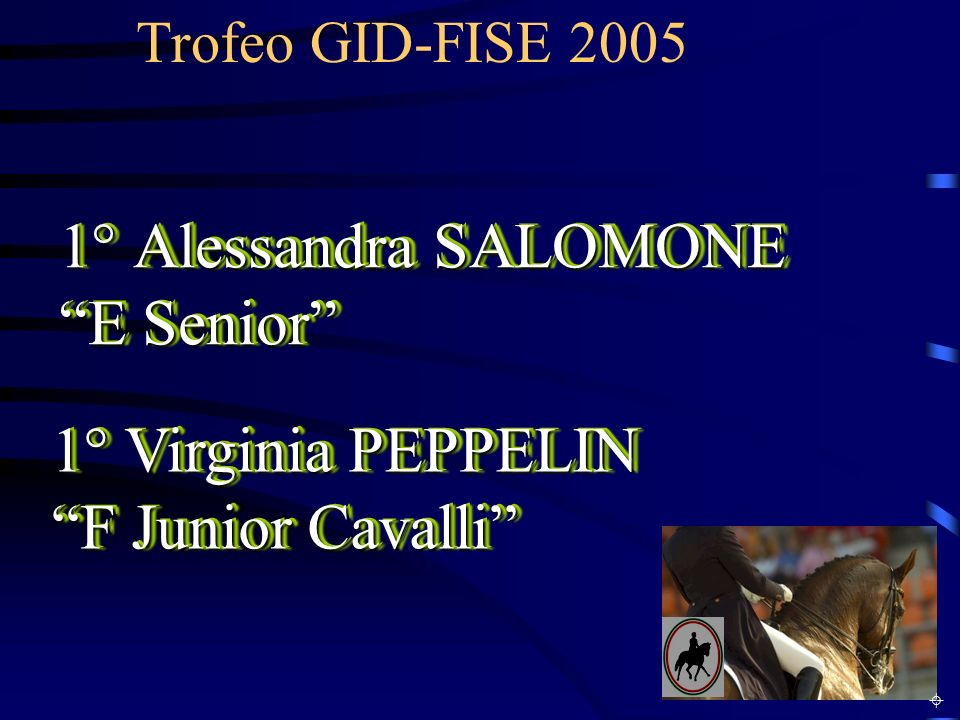1° Alessandra SALOMONE E Senior 1° Virginia PEPPELIN