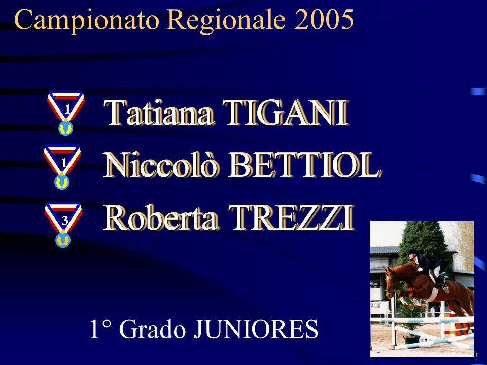 Tatiana TIGANI Niccolò BETTIOL Roberta TREZZI