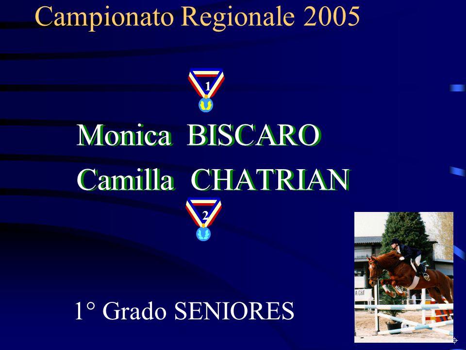 Monica BISCARO Camilla CHATRIAN Campionato Regionale 2005