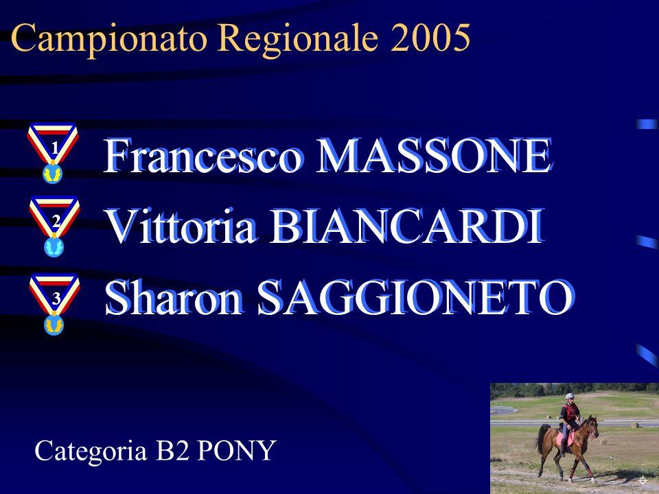 Francesco MASSONE Vittoria BIANCARDI Sharon SAGGIONETO