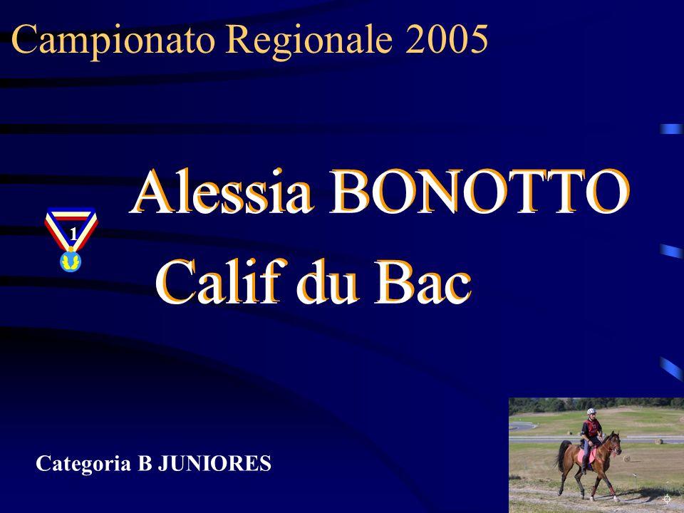 Alessia BONOTTO Calif du Bac Campionato Regionale 2005