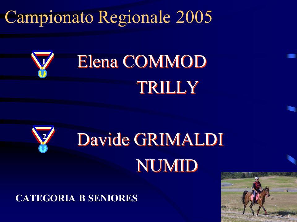 Campionato Regionale 2005 Elena COMMOD TRILLY Davide GRIMALDI NUMID