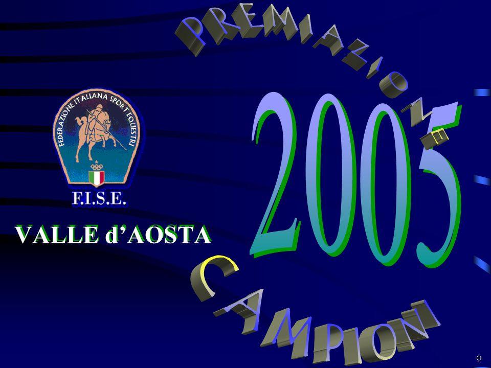 PREMIAZIONE CAMPIONI 2005 VALLE d'AOSTA L INCONTRO ANNUALE ±