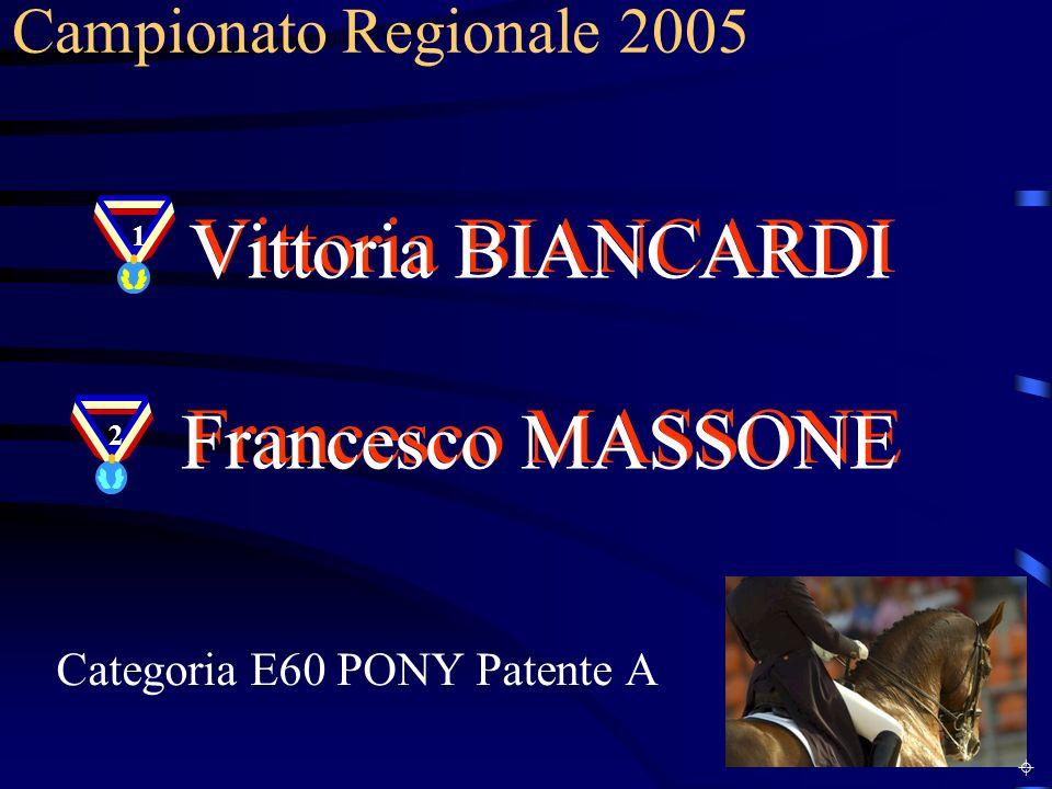 Vittoria BIANCARDI Francesco MASSONE Campionato Regionale 2005