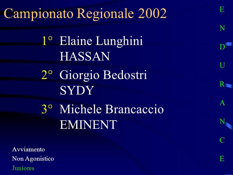 Campionato Regionale 2002 1° Elaine Lunghini HASSAN