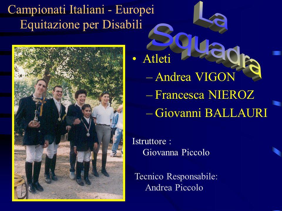 Campionati Italiani - Europei Equitazione per Disabili