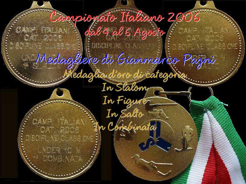 Medagliere di Gianmarco Pajni