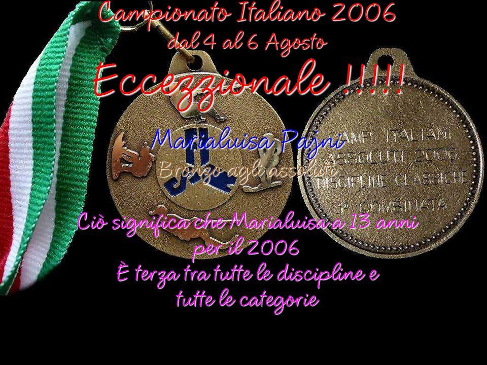 Eccezzionale !!!!! Campionato Italiano 2006 Marialuisa Pajni