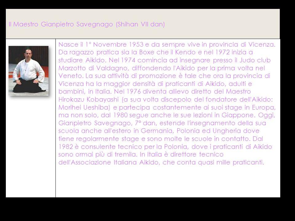Il Maestro Gianpietro Savegnago (Shihan VII dan)