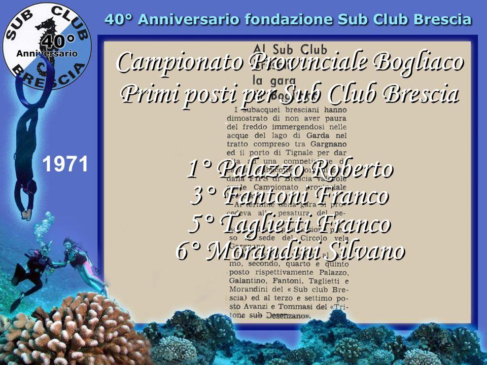 Campionato Provinciale Bogliaco Primi posti per Sub Club Brescia