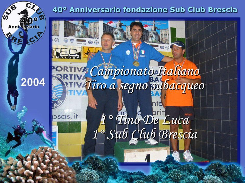 Campionato Italiano Tiro a segno subacqueo 1° Tino De Luca