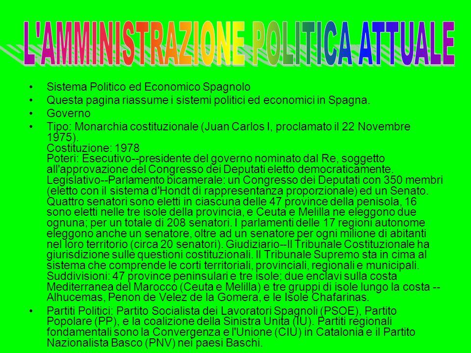 L AMMINISTRAZIONE POLITICA ATTUALE