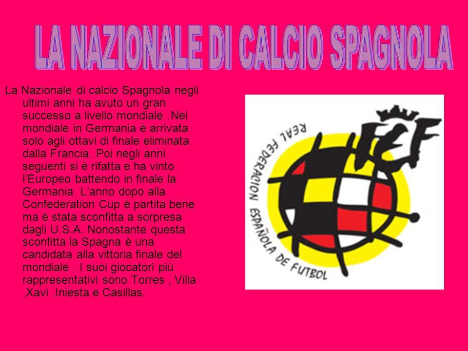 LA NAZIONALE DI CALCIO SPAGNOLA