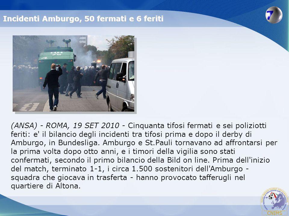 Incidenti Amburgo, 50 fermati e 6 feriti