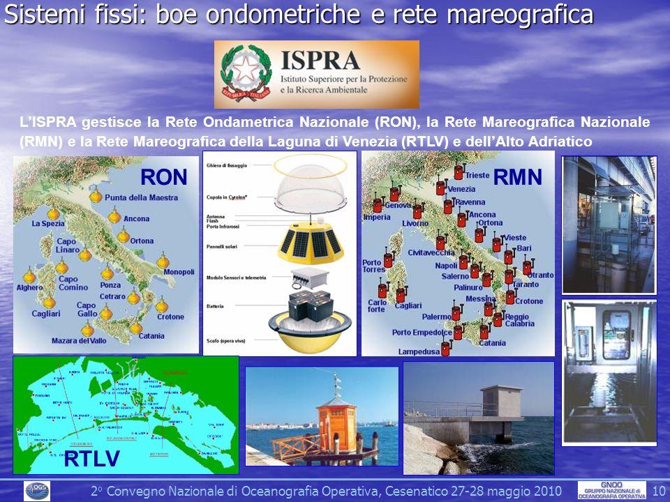 Sistemi fissi: boe ondometriche e rete mareografica