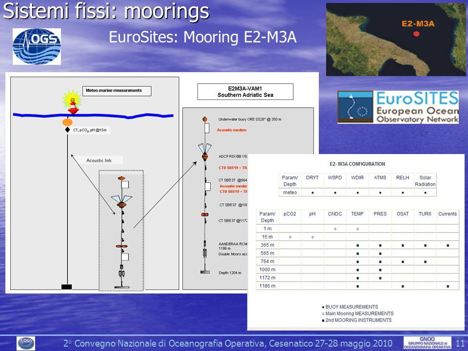 Sistemi fissi: moorings
