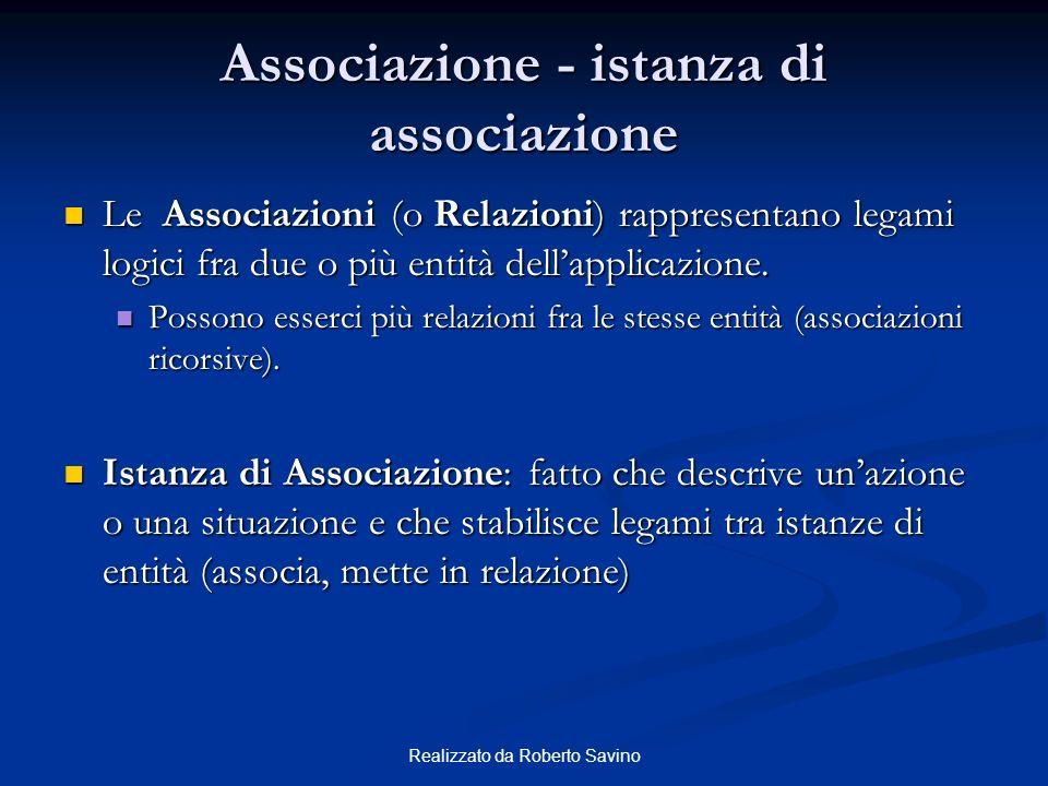 Associazione - istanza di associazione