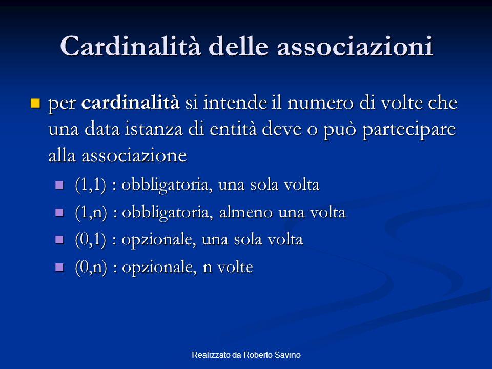 Cardinalità delle associazioni