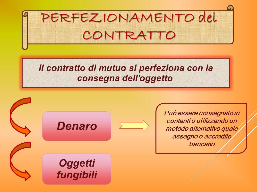 PERFEZIONAMENTO del CONTRATTO
