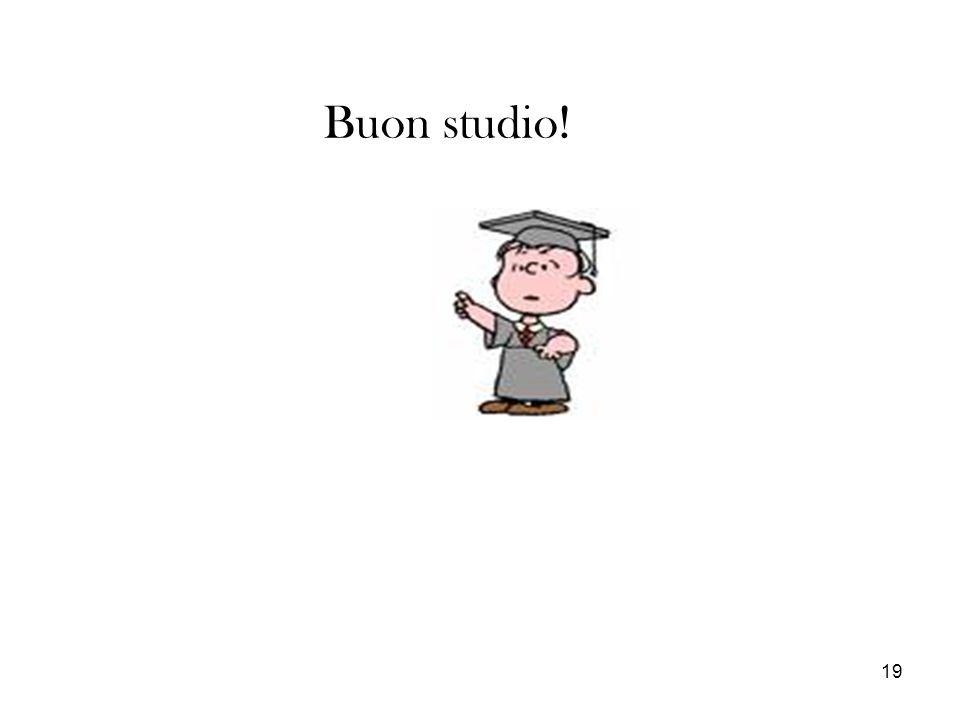 Buon studio!