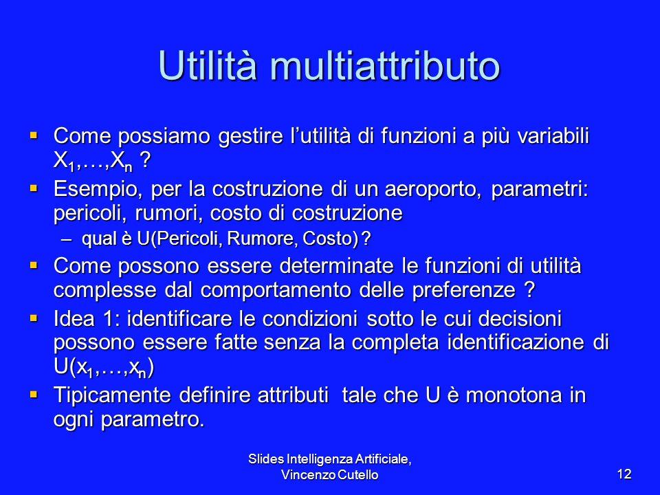 Utilità multiattributo