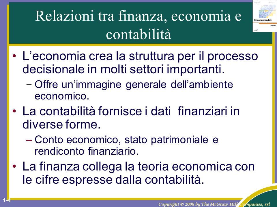 Relazioni tra finanza, economia e contabilità