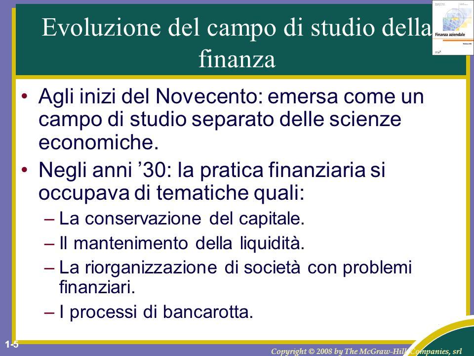 Evoluzione del campo di studio della finanza