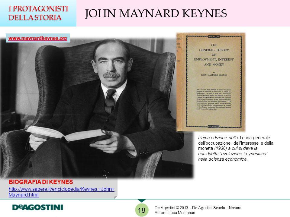 JOHN MAYNARD KEYNES I PROTAGONISTI DELLA STORIA 18 BIOGRAFIA DI KEYNES